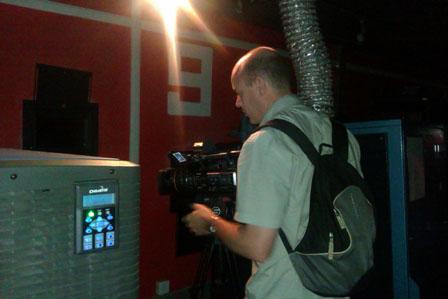 CNBC shoots videos at Wanda headquarters
