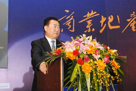 Wang Jianlin attends forum on Chinese commercial real estate industry development
