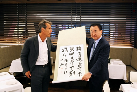 Chairman Wang Meets 索尼 Pictures Chairman