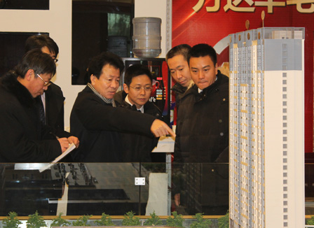 Ding Benxi, President of Wanda, Visited Daqing Saertu Project