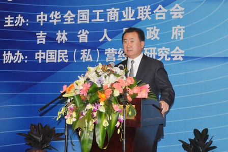 Chairman Wang jianlin Attended Private Economy Development Conference