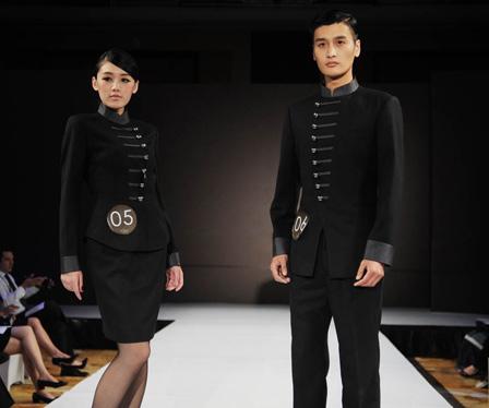 Wanda Reign Hotel unveils staff uniformsDalian Wanda Commercial