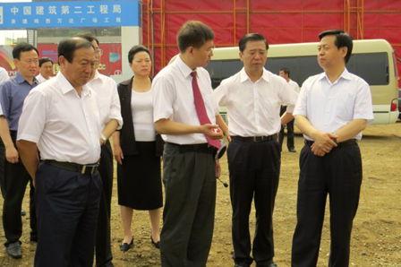 Heilongjiang Party Secretary visits Wanda Plaza construction site 10.