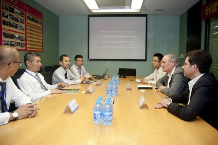 Germany HPP visits Wanda Commercial Planning & Research Institute