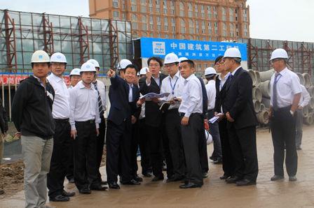 Ding Benxi visits Manzhouli Wanda Plaza project