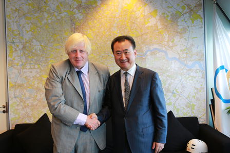 Wang Jianlin meets London Mayor