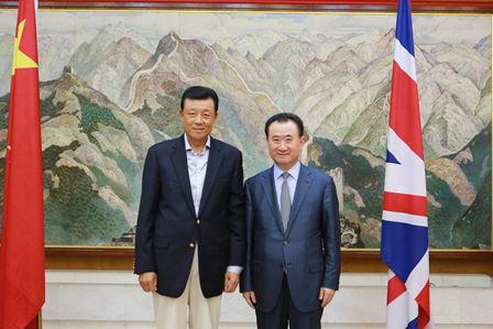 Wang Jianlin meets with China Ambassador to the UK