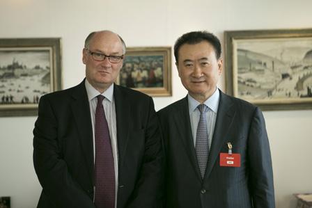 Wang Jianlin meets HSBC Chairman-Dalian Wanda Commercial