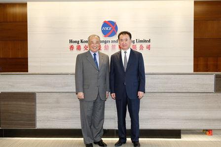 Wang Jianlin meets with HKEx Chairman