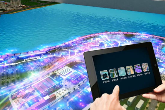 World's largest digital sand-table model unveiled in Qingdao