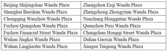 14 Wanda Plazas announce free Wifi service