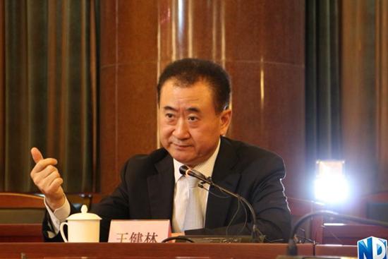 在南方报业传媒集团广州总部,王健林董事长接受了南方传媒集团旗下