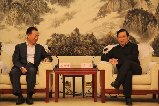 Wang Jianlin meets with Party Secretary of Jiangxi Province