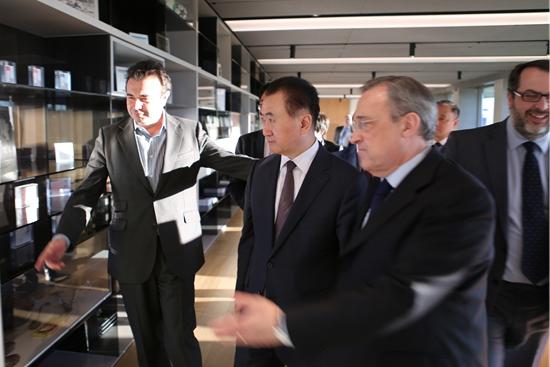 Wang Jianlin visits Real Madrid FC training ground