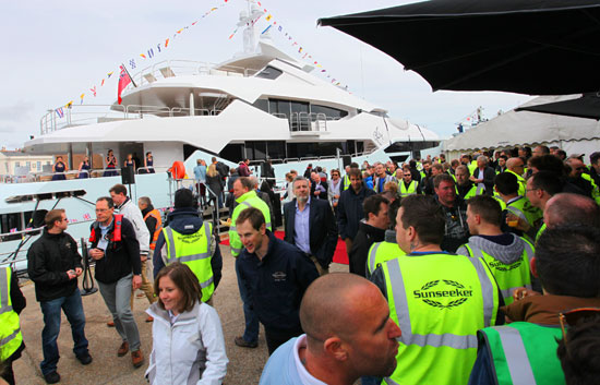 Sunseeker holds launch ceremony for 155 Yacht