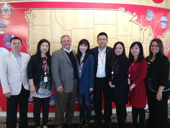 Wanda Cinema Line team visit AMC headquarters