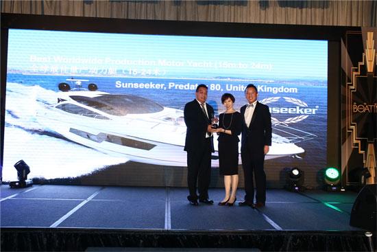 Sunseeker Predator 80 wins Asia Boating Award
