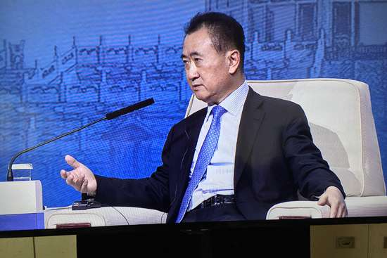Wang Jianlin speaks at APEC's CEO Summit forum