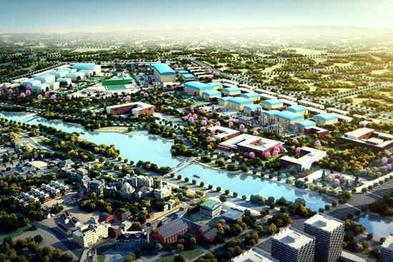 青岛影视产业园,是万达青岛东方影都项目的核心业态 ,建筑造型别致