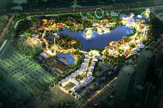 合肥万达主题乐园夜景照明方案确定
