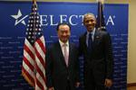 US President Obama meets with Wang Jianlin