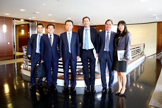 Wang Jianlin visits Blackstone Group