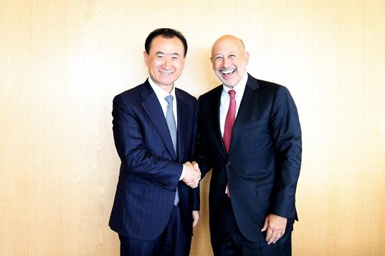 Wang Jianlin meets with Goldman Sachs Chairman