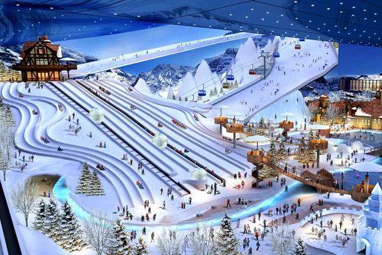 广州万达滑雪乐园制冷造雪初步设计完成专家评审图片
