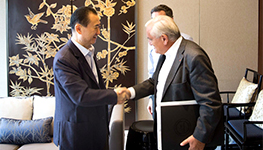 Wang Jianlin met with former French Prime Minis...