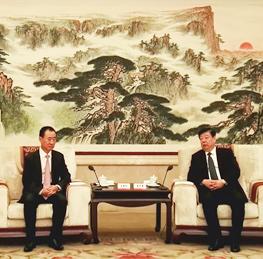 Shandong Party Secretary Jiang Yikang meets Wang Jianli...
