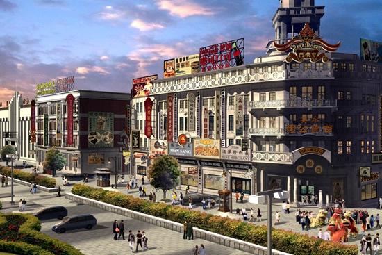 民国老上海风情 日前,青岛东方影都影视产业园外景地建筑设计方案通过集团签批。 青岛东方影都影视产业园外景地建筑方案依据影视剧中经典的欧美街景和民国老上海场景进行设计,精选了具有代表性的建筑元素,使每个单体都具有独特造型和色彩,同时辅以具有年代感的门楼、岗亭、邮筒、路灯、匾牌、幌子、灯箱、广告牌等附属装饰道具,组合成和谐统一的、具有鲜明年代地域特征的场景,逼真呈现上世纪整整百年前的中国城市街景和万里之外的欧美风情,打造影视外景地高端、专业的形象和氛围。 外景地建筑作为影视搭景地的配套服务设施,汇集影视商业
