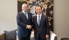 Wang Jianlin meets with Secretary General of...