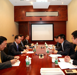 Wang Jianlin meets with Managing Director of CICC