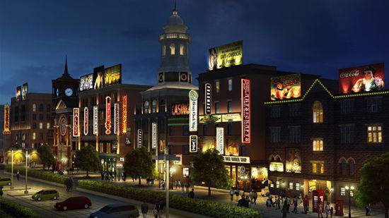 青岛东方影都影视产业园外景地夜景照明方案出炉