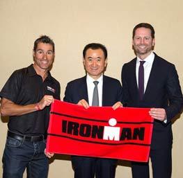 Chairman Wang meets with IRONMAN China Pro Ambassador