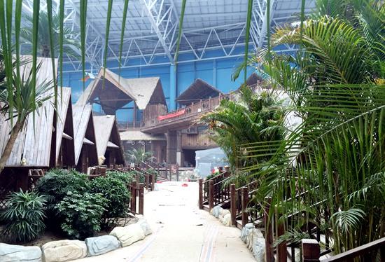 合肥室內水樂園景觀效果初現