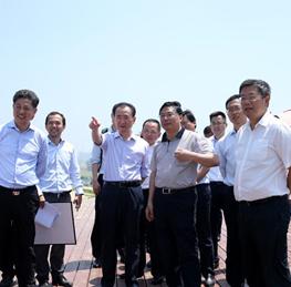 Chairman Wang Jianlin visits Hefei Wanda City project
