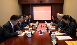 Chairman Wang Jianlin meets with Executive...