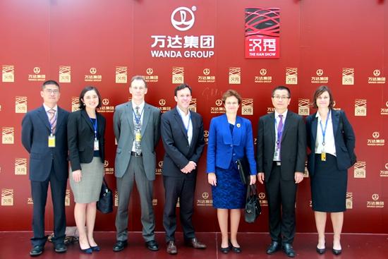Australian Ambassador visits Wanda's Wuhan Central Cultural District