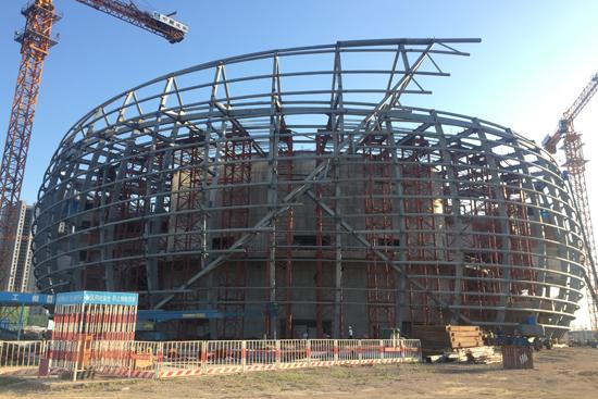 院钢结构安装完成