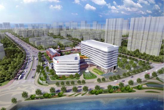 国际医院的优秀案例,在场地竖向复杂