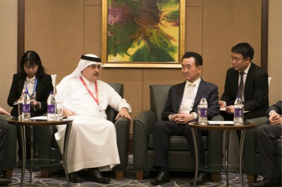 沙特国王及阿美石油公司总裁会见王健林董事长