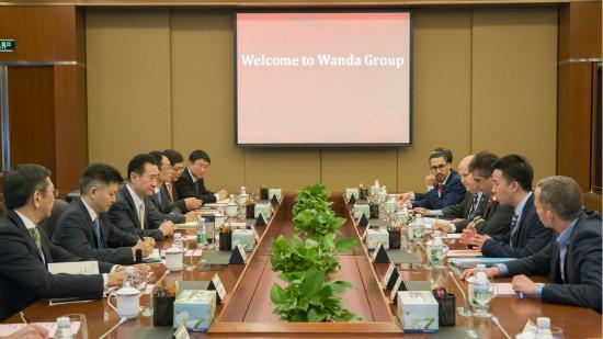 王健林董事长会见以色列经济与产业部部长一行