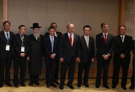 王健林董事长参加以色列总理早餐会