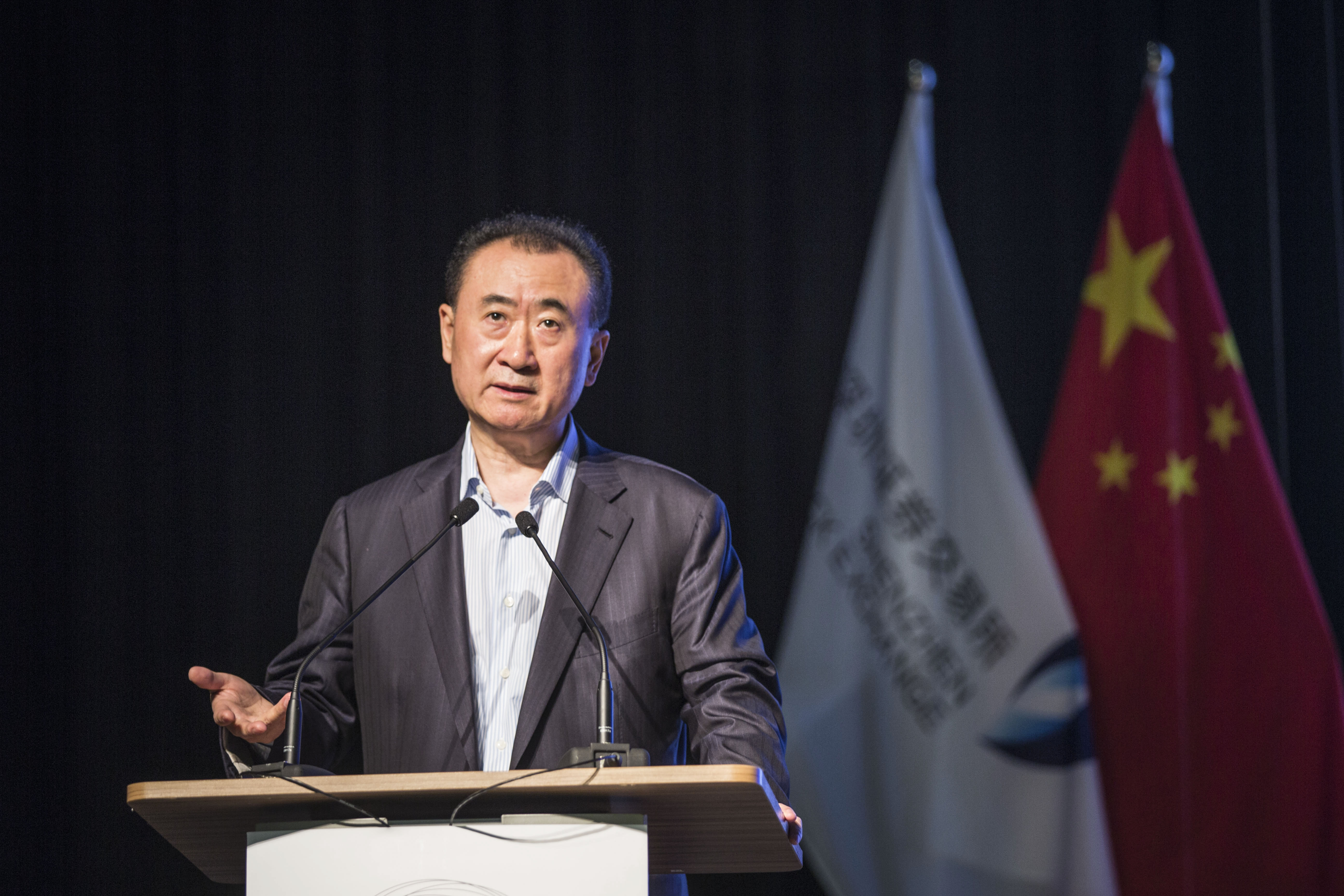 Lecture on 'Asset-Light' by Wang Jianlin at Shenzhen Stock Exchange
