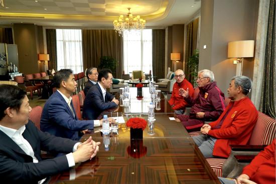 王健林董事长会见中国队主教练里皮
