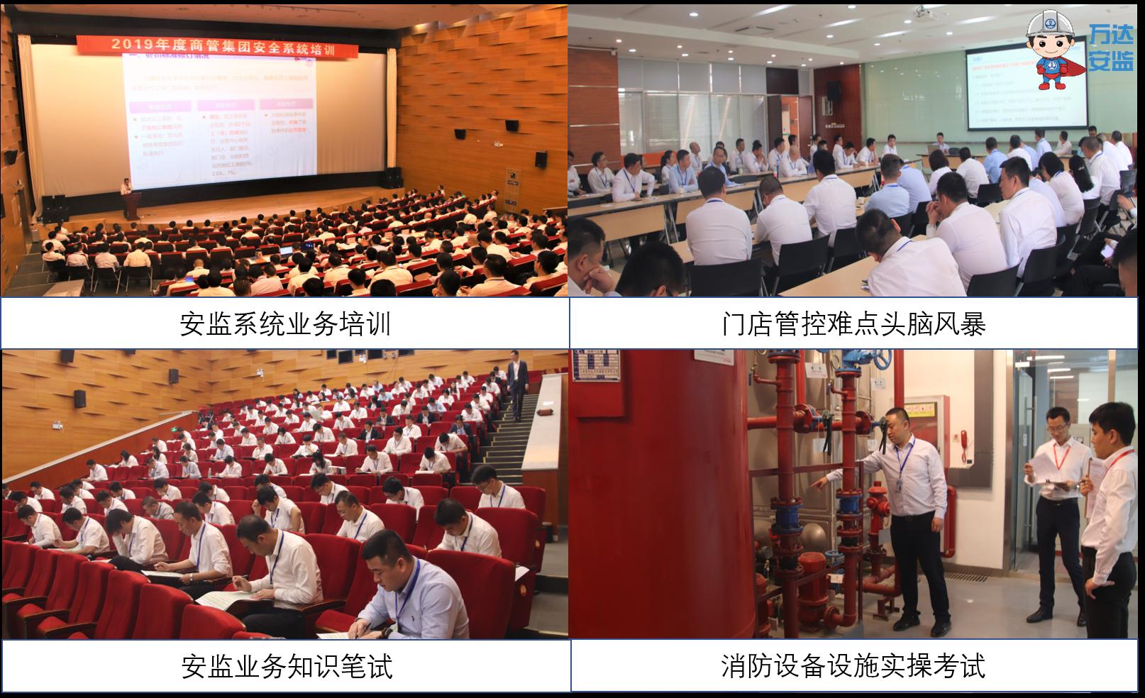 万达商管集团组织年度安全系统培训与考试