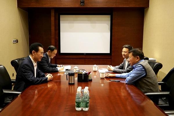 王健林董事长会见富力集团联席董事长兼总裁张力