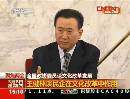 Chairman Wang Attends Press Meeting