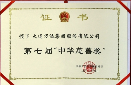 Wanda Wins China Charity Award